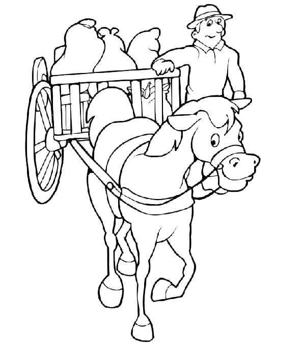 pferde mit kutsche 2 ausmalen