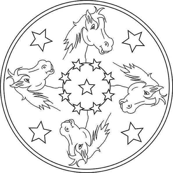 mandala von pferde 3