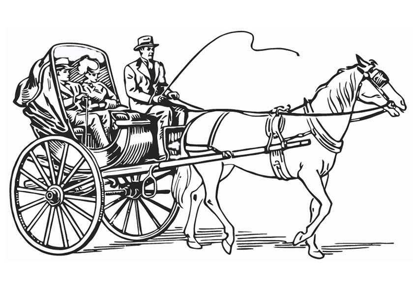 Ausmalbilder Pferde Mit Kutsche 4 | Ausmalbilder Pferde