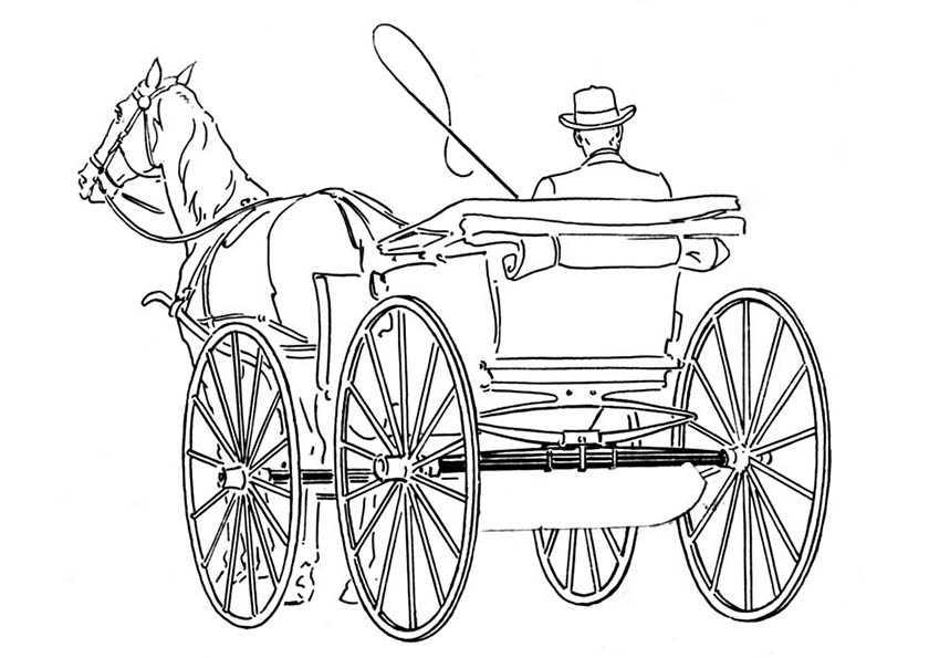 pferde mit kutsche 6 malen