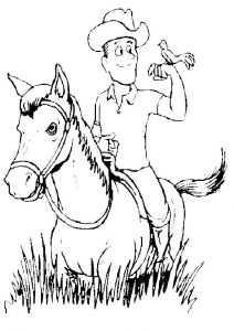 pferde mit reiter 4 ausmalen