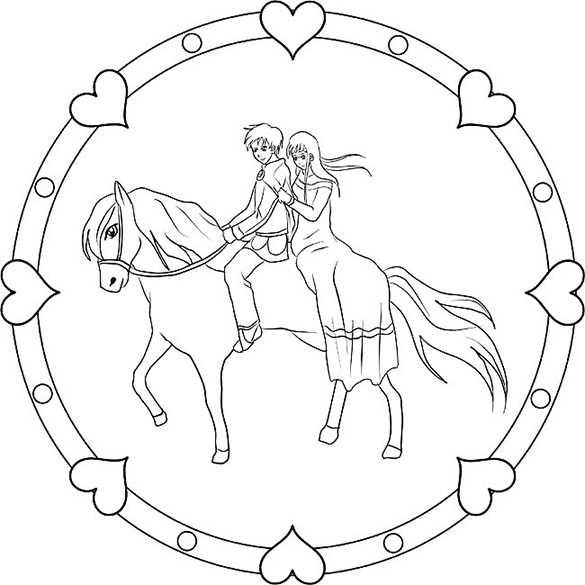 mandala von pferde 4