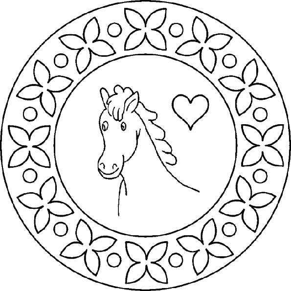 mandala 7 pferde