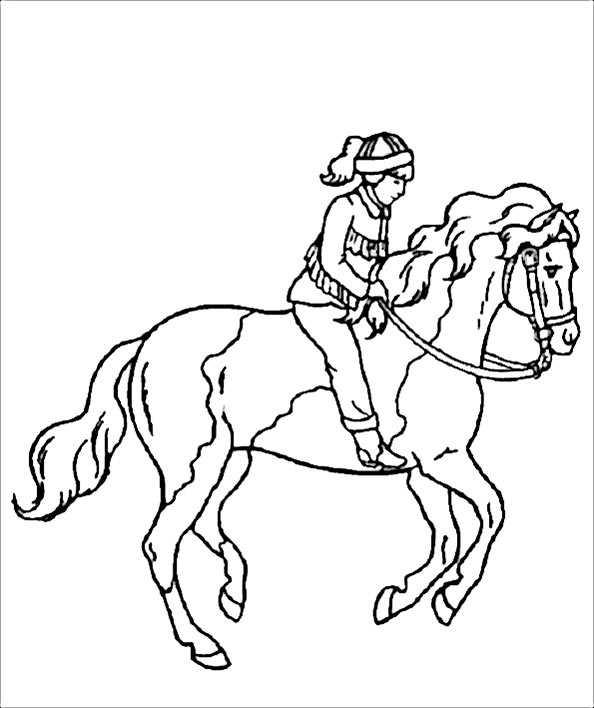 Pferde Mit Reiter Ausmalbilder Pferde