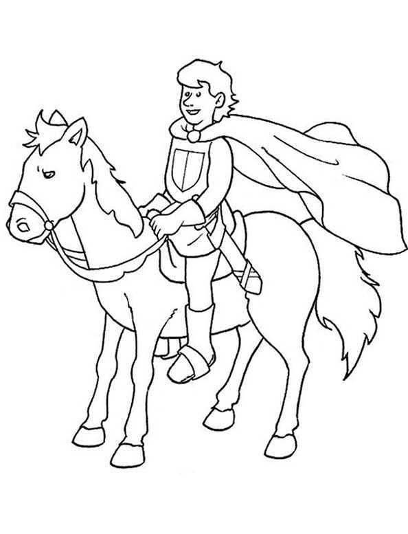 Ausmalbilder Pferde mit Reiter. Bild 9